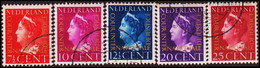 "1947. NEDERLAND. Complete Set With 5 Stamps Overprinted  ""COUR INTER  NATIONALE DE JU... (Michel Di. 20-24) - JF413278 - Dienstpost"
