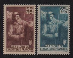 N°386 + 387 - Infanterie - ** Neufs Sans Charniere - Cote 17€ - Unused Stamps