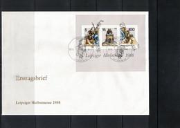 Deutschland / Germany 1988 Leipziger Herbstmesse Michel Block 95 FDC - FDC: Briefe