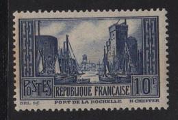 N°261 - 10f La Rochelle Type III - * Neuf Avec Trace De Charniere - Cote 84€ - Ungebraucht