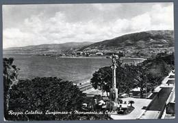 °°° Cartolina - Reggio Calabria Lungomare E Monumento Ai Caduti Viaggiata (l) °°° - Reggio Calabria