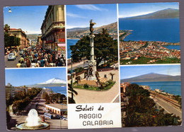 °°° Cartolina - Reggio Calabria Vedute Viaggiata (l) °°° - Reggio Calabria