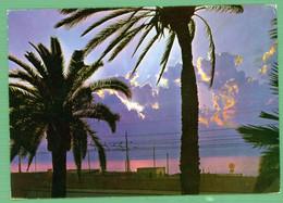 °°° Cartolina - Reggio Calabria Tramonto Sullo Stretto Viaggiata (l) °°° - Reggio Calabria