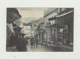 CARTOLINA ALBANIA MERIDIONALE - UNA VIA DI ARGIROCASIRO - POSTA MILITARE 11 - ANNULLO CENSURA WW1 - Albanie
