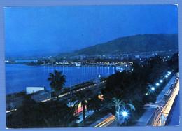 °°° Cartolina - Reggio Calabria Notturno Sul Lungomare Viaggiata (l) °°° - Reggio Calabria