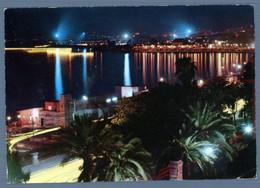°°° Cartolina - Reggio Calabria Lungomare E Lido Di Notte Viaggiata (l) °°° - Reggio Calabria