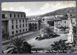 °°° Cartolina - Reggio Calabria Piazza De Nava E Museo Nazionale Viaggiata (l) °°° - Reggio Calabria