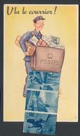 CPA Leporello Beaune, V`la Le Courrier, Briefträger Avec Tasche Voller Ansichtskarten Der Ortschaft - Beaune