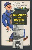 CPA Leporello Beaune, Boum! V`la Le Facteur, Briefträger Avec Tasche Voller Ansichtskarten Der Ortschaft - Beaune