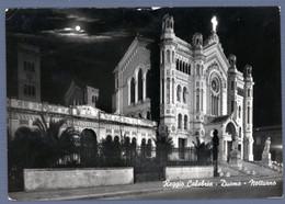 °°° Cartolina - Reggio Calabria Duomo Notturno Viaggiata (l) °°° - Reggio Calabria