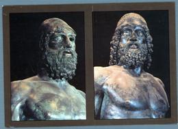 °°° Cartolina - Reggio Calabria Museo Nazionale Della Magna Grecia I Bronzi Di Riace Viaggiata (l) °°° - Reggio Calabria