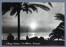 °°° Cartolina - Reggio Calabria Via Marina Tramonto Viaggiata (l) °°° - Reggio Calabria