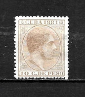 LOTE 2173 /// CUBA 1881  EDIFIL Nº: 66 *MH // COTE: 1,20€   ¡¡¡ OFERTA - LIQUIDATION - JE LIQUIDE !!! - Cuba (1874-1898)