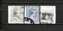 LOTE 2173 /// CUBA  ALFONSO XII 3 VALORES USADOS  ¡¡¡ OFERTA - LIQUIDATION - JE LIQUIDE !!! - Cuba (1874-1898)