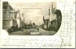5077  - Wien , Jubiläums Ausstellung 1898 , Stempel , Süd Avenue - Gelaufen 1898 - Wien Mitte