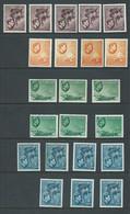 Seychelles 1938 KGVI Definitives 2c - 50c Duplicated Group Of 40 + Mint - Seychelles (...-1976)