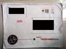 USA Private Cover PhotoDocument Mailer Envelope Large Cover - Cartas