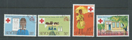 Seychelles 1970 British Red Cross Set 4 FU Cds - Seychelles (...-1976)