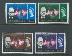 Seychelles 1966 Churchill Memorial Set 4 FU Cds - Seychelles (...-1976)