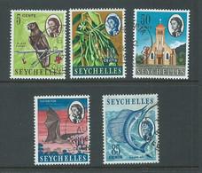 Seychelles 1965 - 1967 Sideways Watermark Definitives Set Of 5 FU - Seychelles (...-1976)