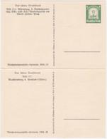 Dt. Reich MiNr. P254 Im Kartenpaar * (R1141) - Ganzsachen