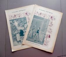 """2 Anciennes Couverture De Cahier Italiennes - Hygiène - 2 Vecchie Copertine Di Quaderni """"I Benefici Dell'Igiene"""" - Book Covers"""
