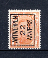 PRE54A-II MNH** 1922 - ANTWERPEN 22 ANVERS - Typo Precancels 1922-26 (Albert I)