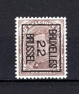 PRE58B-III MNH** 1922 - BRUXELLES 22 BRUSSEL - Typo Precancels 1922-26 (Albert I)