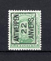 PRE59A-II MNH** 1922 - ANTWERPEN 22 ANVERS - Typo Precancels 1922-26 (Albert I)