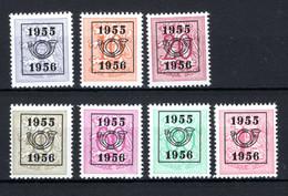 PRE652/658 MNH** 1955 - Cijfer Op Heraldieke Leeuw Type E - REEKS 48 - Typos 1951-80 (Ziffer Auf Löwe)