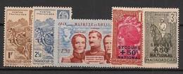 Madagascar - 1941-42 - N°Yv. 229 à 233 - Complet 5 Valeurs - Neuf * / MH VF - Nuovi
