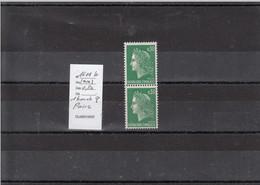 Variété - YT 1611 B (**) 1 Bande Phosphore Sur Paire Verticale - Variedades: 1960-69 Nuevos