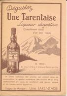 Publicité Alcool: Liqueur Digestive Tarentaise - Dépliant Publicitaire Bon-Secours (Elixir, Arquebuse, Rhum, Quina) - Alcools