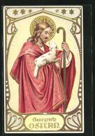 AK Jesus Mit Einem Lamm Auf Dem Arm - Pascua
