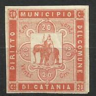 CATANIA 20 C. DIRITTO DEL COMUNE, MARCA DA BOLLO COMUNALE, REVENUE, MUNICIPAL STAMP, Rif.26 - Otros