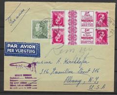 OBP433 + 528 (pubs) Op Gelopen Brief Naar Albany (USA) Met Aankomststempel En 'returned To Sender' - Covers & Documents