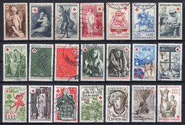 CROIX-ROUGE 1950 à 1983 / 21 TIMBRES (o) / COTE 50 € - Autres