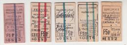 Biglietti Treno  Regno-.Italia Italy - Europa
