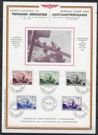 OBP466/70 Op Herdenkingsblad Luchtvaartpropaganda Met Stempel Postmuseum - Covers & Documents