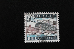 1965,BELGIQUE Y&T NO 1352 50C BLEU-NOIR BLEU ET BRUN-VIOLET HUY OBLITERE  .. - Oblitérés