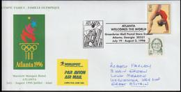 USA Cover 1996 Atlanta Olympic Games - From Marriott Marquis Hotel Posted Atlanta 1996 Atlanta Welcomes The - Estate 1996: Atlanta