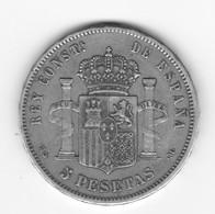 5 Pesetas 1883 MS. M    TTB à SUP - Colecciones