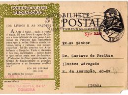 PORTUGAL - BILHETE POSTAL - INTEIRE STATIONERY -PADRE VIEIRA $50\$30  Com Defeito - Postwaardestukken