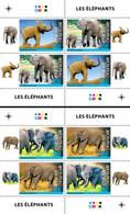 2020-07- CENTRAL AFRICAN REP-  ELEPHANTS            2X4V  MNH** - Elefanten