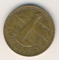BARBADOS 2000: 5 Cents, KM 11 - Barbados