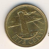 BARBADOS 1994: 5 Cents, KM 11 - Barbados