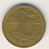 BARBADOS 1986: 5 Cents, KM 11 - Barbados