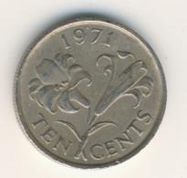BERMUDA 1971: 10 Cents, KM 17 - Bermuda