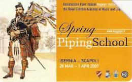 *ITALIA: SPRING PIPING SCHOOL* - Scheda Usata - Public Practical Advertising