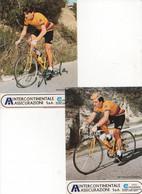 2 CARTES AMADORI  ET  BETTONI INTERCONTINENTALE ASSICURAZIONI - Cycling